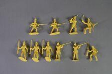 Marx  54 MM  Alamo Shako Mexicans - Rare  Golden Yellow - complete set !!