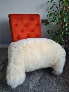 Genuine Sheepskin Rug EXTRA LARGE Pelt Soft Huge Real Fur White/Ivory 125-130cm