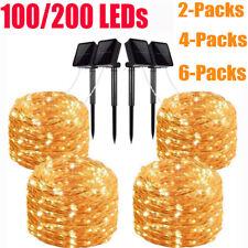 2/4/6Packs 100 200 LEDs Solar Power Fairy Lights String für Party Xmas Dekor DE
