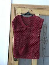Rowan Summer Tweed Handknit Jumper Size 32/34 Red