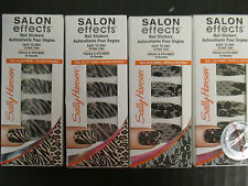 4 SALLY HANSEN SALON EFFECTS LIMITED EDITION NAIL STICKERS - NEW - EL 2332