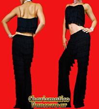 BLACK SALSA Latin SAMBA Fringe YULIA dance pants & Top