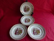 4 assiettes plates en céramique,scéne galante marquis,marquise (1)