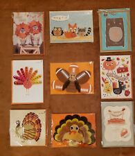 PAPYRUS Greeting Cards THANKSGIVING Lot of 9 FALL TURKEY BLESSED THANKFUL PIE