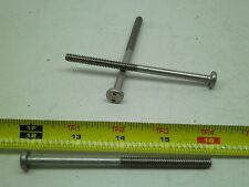 "[50]1/4""-20 X 4"" Stainless Steel SECURITY Pan Head Spanner Machine Screw Bolt BB"