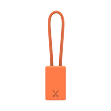 PHILO Lightning MFI Charging Cable Keychain for Apple iPhone 7/8/X - Neon Orange