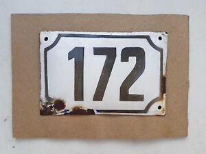 vintage PRE ISRAEL STATE PALESTINE enamel porcelain number 172 house sign # 172
