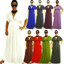 Polyester Casual Solid Maxi Dresses for Women