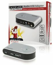 Alta Calidad Audio RCA/Phono USB 2.0 Adaptador convertidor analógico a digital de música