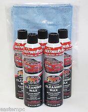 5 Cans FW1 FASTWAX Waterless Wash Carnauba Car Wax FREE SHIP + MICROFIBER TOWEL