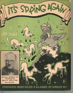 It's Spring Again 1942 Large Format Sheet Music