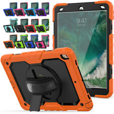 For iPad Air 2 3 Pro 11 2018 10.5 9.7 inch Rotating Heavy Duty Handle Strap Case