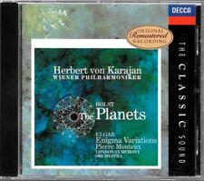 ALBUM CD / HOLST : THE PLANETS - ELGAR - ENIGMA - KARAJAN / DECCA