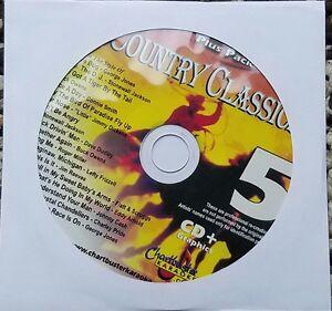 COUNTRY CLASSICS 5 KARAOKE CDG CHARTBUSTER ESSENTIALS ESP451-5 CD+G MUSIC