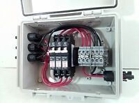 Solar Combiner Box with 10A Circuit Breakers - 2-String PV Combiner - 300V