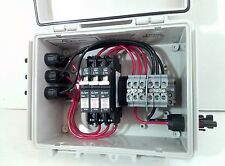 Solar Combiner Box with Circuit Breakers - 3-String PV Combiner - 8A Breakers