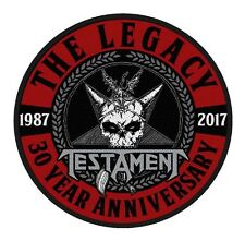 TESTAMENT - Patch Aufnäher - The Legacy 30 year anniversary 9x9cm