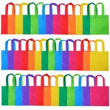 40 Pcs Non-Woven Party Gift Bags Rainbow Colors Tote Bags with Handles for Party