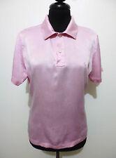 POLO RALPH LAUREN Maglietta Donna Seta Woman Silk Pole T-Shirt Sz.S - 42