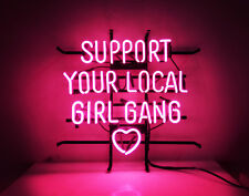 "Support Your Local Girl Bang Handmade Visual Artwork Home Room Wall Decor18""x16"""
