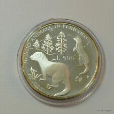 """San Marino, 500 Lire 1993 """"Wildlife - Iltisse"""" Silber/PP"""