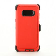 Rugged Samsung Galaxy S8 / S8 + Plus Hard Case*Belt Clip Fits Otterbox Defender*