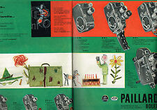 PUBLICITE ADVERTISING 014   1960   PAILLARD BOLEX   caméras  ( 2 pages)