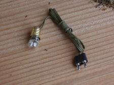 Krippenzubehör - Lampe mit Fassung -Kabel u. Stecker   weiß  leuchtend !! E 5