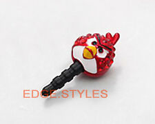 Bird Ear Cap Dock Dust Plug swarovski CZ cell mobile phone earphone jack