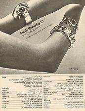 Publicité Advertising 1972  Montre Alexis Barthelay