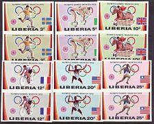 Liberia # 591-96 Imper Pairs Complete MNH