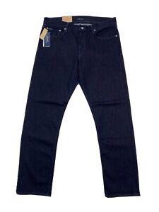 NWT Polo Ralph Lauren 34x32 Prospect Straight Jeans Stretch Blue Cotton Men's