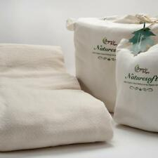 Blanket King 100% Organic Cotton Ivory Natural Crepe Weave USA Eco
