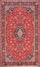 Vintage Traditional Floral Red 4x7 Kaashan Oriental Area Rug Wool Carpet