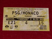 [COLLECTION SPORT FOOTBALL] TICKET PSG / MONACO 24 AOUT 2003 Champ.France