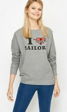 """Lovely New """"I Love Sailors"""" S - M Jumper Pullover Grey Great Quality Great Value"""