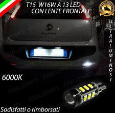 LAMPADA RETROMARCIA 13 LED T15 W16W CANBUS PER FIAT PUNTO EVO 6000K NO ERROR