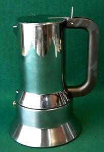 CAFFETTIERA ALESSI 9090/6 6 TZ DESIGNER RICHARD SAPPER ACCIAIO INOX 18/10. OOO71