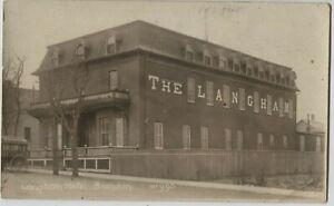 1910 era The Langham Hotel Brandon Manitoba Canada Real Photo Postcard RPPC