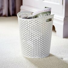 Bedroom Living Room Kitchen Office White Paper Waste Bin 13L Trash Can House