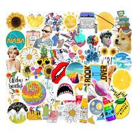 50Pcs VSCO Sticker Bomb Vinyl Laptop Luggage Water Bottle Girl Stuff Decals Pack