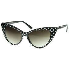 Occhiali da sole da donna occhi di gatto con montatura in nero, con 100% UV400