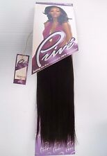 "Prive 10"" Human Hair Straight Weave Track Weft Color 2 Dark Brown"