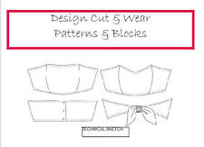 BANDEAU SHORT BUSTIER TOP PATTERN BLOCK- SIZES XS TO XL SLOPER - EASY TO SEW!