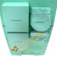 Auth Tiffany & Co. Loving Heart Necklace Paloma Picasso 18K Yellow Gold #K161003