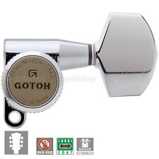 NEW Gotoh SG360-01 MGT Locking Tuners Tuning Keys w/ LARGE Buttons 3x3 - CHROME