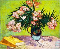 Oleanders by Vincent van Gogh 75cm x 61.6cm High Quality Canvas Print