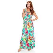 NEW - CARSON KRESSLEY Stretch Knit Sleeveless Drawstring Waist Maxi Dress 1X