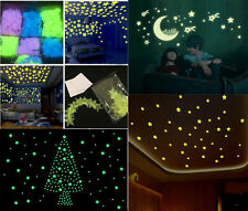 100x Home Wall Night Glow Space Star Stickers Ceiling Decal Baby Room Decor BY80