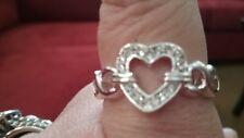 Avon Embellished Heart Band Ring Size 10 Free Shipping